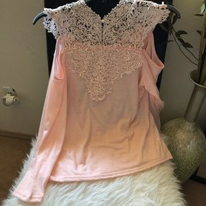 Nordstrom/Gorgeous lace all upper front&back top